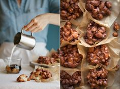 Pecan Fritters with Brown Butter Glaze Apple Pecan Fritters with Brown Butter Glaze Donut Recipes, Pastry Recipes, Apple Recipes, Sweet Recipes, Dessert Recipes, Culinary Chef, Apple Glaze, Delicious Desserts, Yummy Food