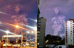 Una extraña y misteriosa figura fue captada momentos después de la erupción del volcán Calbuco en Chile, el pasado 22 de abril de 2015.