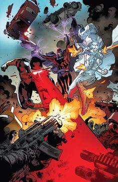 Cyclops, Magneto and White Queen by Stuart Immonen