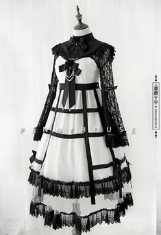 Penny House -Rose and Cross- Gothic Lolita Jumper Dress and Blouse #Leftovers