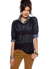 belk.com Willow and Clay Open Weave Sweater