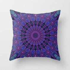 Purple Harmony Throw Pillow by Lyle Hatch - $20.00