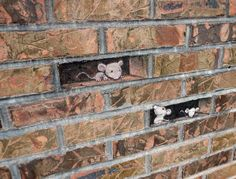 David Zinn's chalk artworks make use of anamorphic perspective and surrounding street fixtures — whether they be railings, steps, or even a light — to create startlingly deceptive chalk drawings on the streets of Ann Arbor, Michigan. These illusions come under the umbrella of trompe l'oeil and the techniques make the most unlikely scene seem like real parts of the built environment.