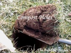 Making compost holes