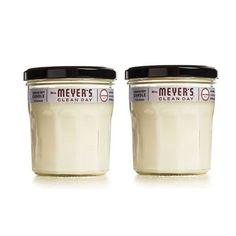 Meyer's Soy Candle - Lavender - Case of 6 - oz Candles: Vegetable Wax Base, Fragrance, Lavandula Intermedia (Lavender) Oil, Citrus Aurantium Dulcis (Orange) Peel Oil, Lead Free Cotton Wick Ceramic Candle Holders, Candle Accessories, Lavandula, Orange Peel, Lavender Oil, Glass Candle, Soy Candles, Lead Free, Wax