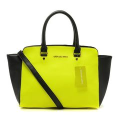 Michael Kors Outlet Selma Top-Zip Large Yellow Satchels -Michael Kors factory outlet online sale now up to 80% off!