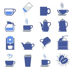 free vector Coffee shop icons