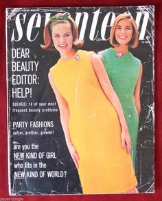 October 1963 cover with Susan Van Wyck  Wendy Hill Early 60s shift dress yellow green spring summer colors vintage fashion style simple mad men