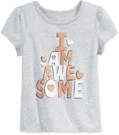 Epic Threads 2T-6x) Little Girls' Mix and Match I Am Awesome Tee, Only at Macy's
