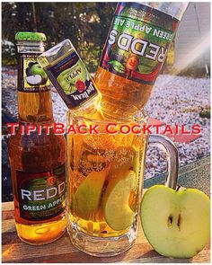 Try this TipitBack Cocktail's Original this Thirsty~Thursday! Remember you saw it FIRST right here at TipitBack Cocktails!   Jimmy Appleseed Brew  1 - Bottle of Redd's Greenapple Ale 1 - Mini bottle of Jim Beam Apple 4 oz Apple Juice  *Build in glass-Enjoy!*