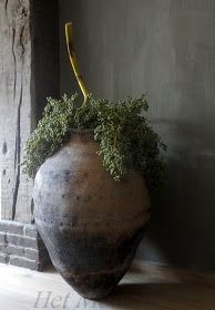 Home Decoration Tips for Decorators on the Budget Wabi Sabi, Ikebana, Container Plants, Container Gardening, Olive Jar, Deco Design, Garden Pots, Rustic Decor, Flower Arrangements