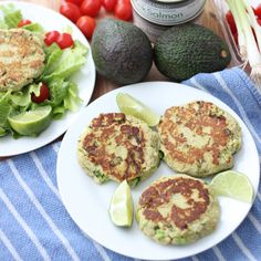 Avocado Salmon Burgers..i would sub can salmon for fresh...ad