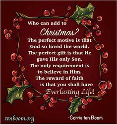 Corrie Ten Boom On Christmas