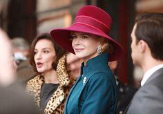 """I love this hat that Nicole Kidman wears as Grace Kelly in """"Grace of Monaco.""""  Nicole Kidman's hats were created by Alexandre Barthet."""