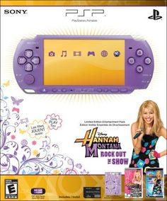 Portable PlayStation Portable Limited Edition Hannah Montana Entertainment Pack  Lilac Consumer Electronic Gadget Shop -- Check out the image by visiting the link.