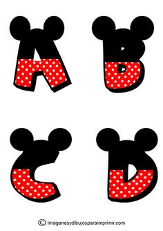 Letras de Mickey Mouse para imprimir-Imagenes y dibujos para imprimir