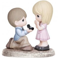 """""""Will You Marry Me?"""" Bisque Porcelain Figurine"""