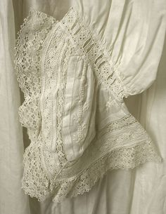 Nightgown 1880s Culture: American or European Medium: cotton Metropolitan museum
