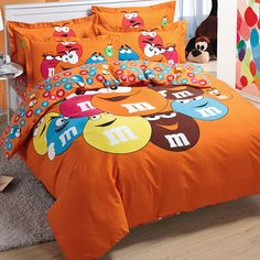 M&M Duvet Cover Set, Orange