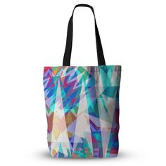 """Miranda Mol """"Triangle Party"""" Multicolor  Everything Tote Bag from KESS InHouse"""