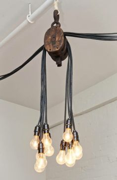 Il lampadario-carrucola