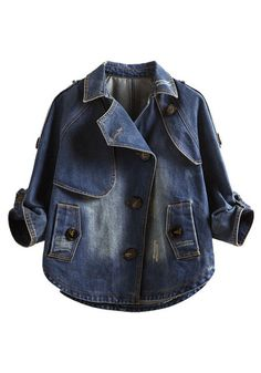 Outerwear // This blue oblique button denim jacket is a true classic beauty with a modern twist.