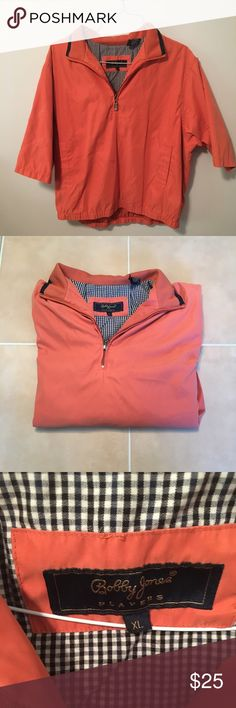 Bobby Jones Short Sleeve Golf windbreaker size:XL Bobby Jones short sleeve salmon golf windbreaker, size XL. Bobby Jones Jackets & Coats Windbreakers