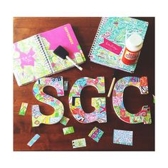 use old planner to decorate letters