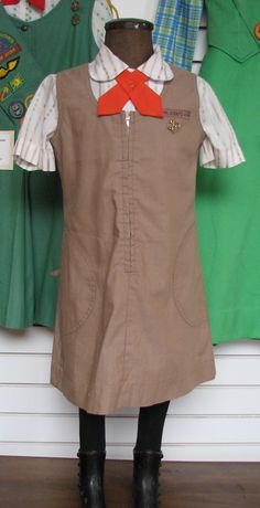Vintage Girl Scouts uniform (I don't know how vintage, this is what I wore in the mid 80's - is that vintage?)