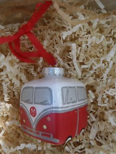 RED VOLKSWAGON BUS by TheHappyMullet on Etsy, $10.00