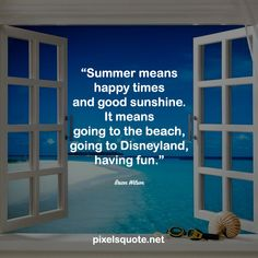 Summer is coming, with all the fun, love and inspirations. Let's celebrate this period of time with some happy and energetic summer quotes. End Of Summer Quotes, Happy Summer Quotes, Summer Rain, Summer Nights, Summer Of Love, Summer Humor, Most Beautiful Words, Summertime, Have Fun