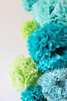 DIY Tissue Pom Poms