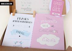 """Hoy os presentamos uno de nuestros proyectos preferidos. Unos packs pensados para regalar a los padres que acaban de tener un bebé. Podéis comprarlo a través de nuestratienda on-line.  Disponibles en dos colores diferentes: rosa y azul. Los packs incluyen: - Cajita - Cuadro  - Lámina """"alguien que me quiere"""" - Frases imprescindibles [...]"""