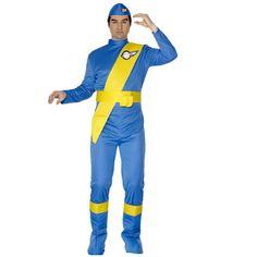 Thunderbirds kostuum Virgil voor volwassenen. Thunderbirds kostuum bestaande uit de jumpsuit, schoenhoezen en hoedje. Carnavalskleding 2015 #carnaval