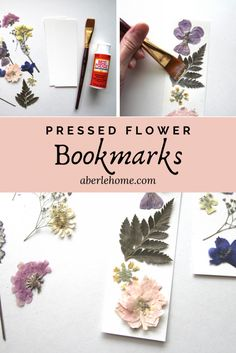 These handmade pressed flower bookmarks are a lovely and simple craft project. A great way to use flowers you press in the spring and summertime or to compliment your homeschool nature study! Dried And Pressed Flowers, Pressed Flower Art, Des Fleurs Pour Algernon, Diy Marque Page, Crafts To Make, Easy Crafts, Handmade Crafts, Diy Flowers, Press Flowers