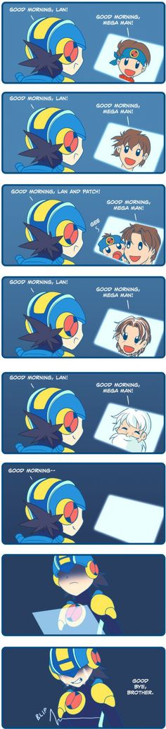 Megaman Battle Network good morning... - http://www.x-lols.com/memes/megaman-battle-network-good-morning/