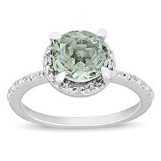@Overstock - Green amethyst and diamond accent fashion ringSterling silver jewelryClick here for ring sizing guidehttp://www.overstock.com/Jewelry-Watches/Miadora-Sterling-Silver-Green-Amethyst-and-Diamond-Accent-Ring/5616103/product.html?CID=214117 $64.99