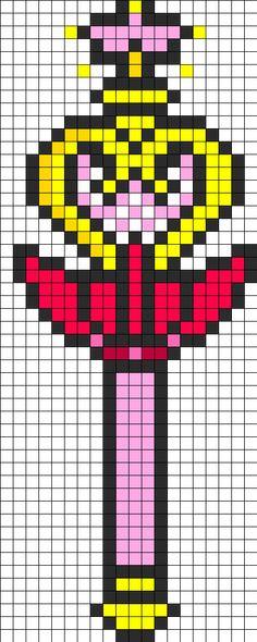 Sailor Mini Moon Wand Perler Bead Pattern
