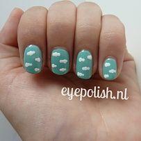 32 Easy Nail Art Hacks For The Perfect Manicure Cloud nails Nail Art Hacks, Nail Art Diy, Cool Nail Art, How To Nail Art, Pretty Nail Art, Nail Manicure, Diy Nails, Nail Polish, Diy Nail Designs