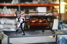 """Glowing"" Slayer custom espresso machine"