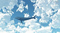 Whale in the sky Artistic desktop wallpaper, Sky wallpaper, Whale wallpaper, Cloud wallpaper - Artistic no. Night Sky Wallpaper, Cloud Wallpaper, Drawing Wallpaper, Computer Wallpaper, Mobile Wallpaper, Hd Wallpapers For Laptop, Blue Wallpapers, Wallpaper Backgrounds, Artistic Wallpaper