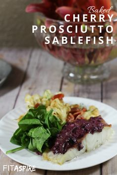 The light salty flavor of prosciutto, sweet cherries, & buttery sablefish make a delicious (yet healthy!) Cherry Prosciutto Sablefish recipe! If you haven't tried this fish yet, you're going to want to order some immediately after seeing this easy recipe. Ready in under 30 minutes and great for date night or entertaining! (via @fitaspire)