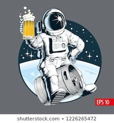 Find Astronaut Sits On Beer Keg Holds stock images in HD and millions of other royalty-free stock photos, illustrations and vectors in the Shutterstock collection. Thousands of new, high-quality pictures added every day. Stoner Art, New Pictures, Royalty Free Stock Photos, Geek Stuff, Beer, Illustration, Space Pics, Nasa, Imagination