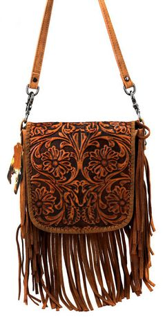 Leather and purses go hand in hand. Most of the women purses are made of leather. Leather purses are. Tooled Leather Purse, Leather Fringe, Leather Tooling, Leather Purses, Leather Crossbody, Leather Jewelry, Leather Bags, Looks Country, Design Bleu