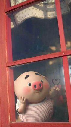 Pig Wallpaper, Disney Wallpaper, Iphone Wallpaper, Trendy Wallpaper, Cute Piglets, Pig Art, Kawaii Illustration, Baby Pigs, Little Pigs