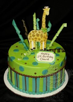 make in pink yellow and green.  Loose the giraffe First Birthday C