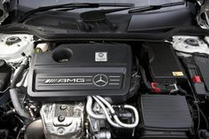 Mercedes AMG turbo four-cylinder engine Mercedes A45 Amg, Evo, Engineering, Vans, Concept, Van, Technology