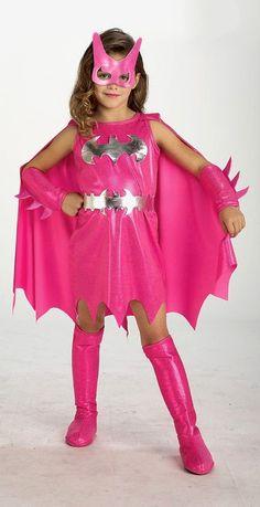 Pink Bat Girl Kids Costume