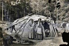 Ojibwa family near Watersmeet, Michigan - 1908