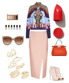 """Untitled #19"" by explorer-14490085059 ❤ liked on Polyvore featuring Mary Katrantzou, C/MEO COLLECTIVE, Dolce&Gabbana, Fendi, Topshop, STELLA McCARTNEY, Urban Decay, Deborah Lippmann and NARS Cosmetics"